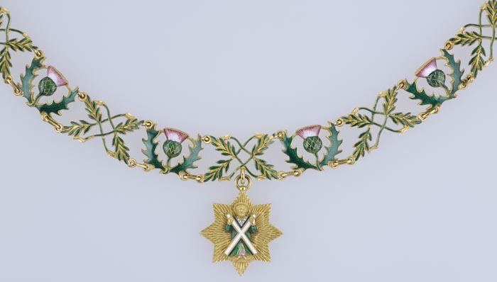 Collar of the Order of the Thistle made for Queen Victoria, 1837. Image courtesy Royal Collection Trust / © Her Majesty Queen Elizabeth II 2014