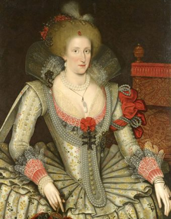 Attributed to Marcus Gheeraerts the Younger, Anne of Denmark, 1614