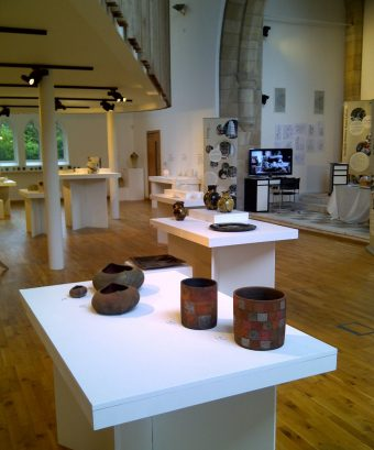 Scottish Potters - 40 Years, work by Kerstin Gren (front) and Hannah McAndrew (table behind)