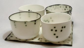 Tray of four bowls, Cillian Gibbons